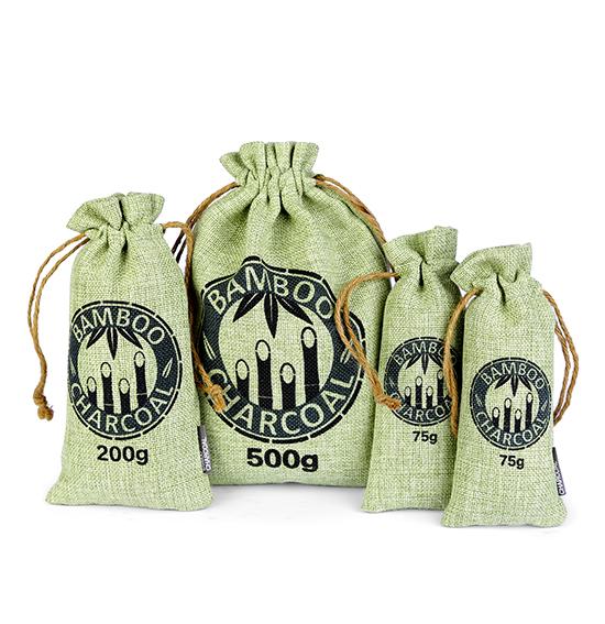 麻布竹炭包(绿色绳索款)
